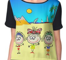 Funny people Girls and Boys Chiffon Top