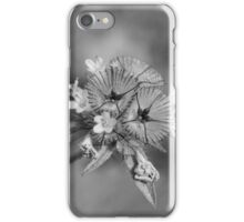 black en white flower iPhone Case/Skin