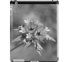 black en white flower iPad Case/Skin