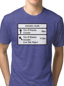 Kessel Run Smugglers Sign Tri-blend T-Shirt