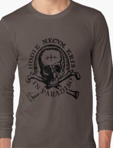 "Uncharted ""Hodie Mecvm Eris In Paradiso"" Long Sleeve T-Shirt"