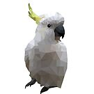 Geometric Bird Cockatoo Low Poly by superminx
