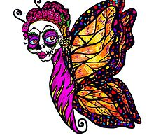 Calavera Butterfly Day of the Dead by Candace Byington