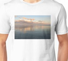 Sailing at Sunset - Little Pink Yacht at the Horizon Unisex T-Shirt
