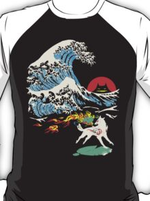 The Great Wave off Oni Island T-Shirt