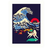 The Great Wave off Oni Island Art Print