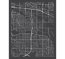 Aurora Map, USA - Gray Photographic Print