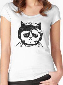 Grumpy Merkel Cat Women's Fitted Scoop T-Shirt