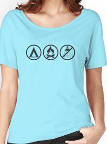 Pathfinder: Tent, Fire, no Shower Women's Relaxed Fit T-Shirt
