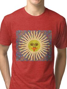 Sun Man Lads Tri-blend T-Shirt