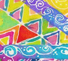 Whimsical Watercolor Geometric Zentangle Pattern Sticker