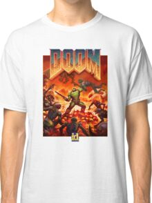 DOOM 4 (2016) Reboot Retro Box Art Classic T-Shirt