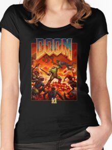 DOOM 4 (2016) Reboot Retro Box Art Women's Fitted Scoop T-Shirt