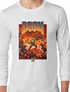 DOOM 4 (2016) Reboot Retro Box Art Long Sleeve T-Shirt