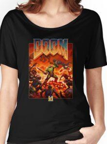 DOOM 4 (2016) Reboot Retro Box Art Women's Relaxed Fit T-Shirt