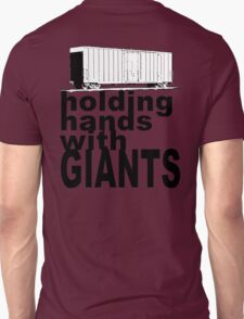"""holding hands with GIANTS"" Unisex T-Shirt"