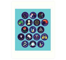 Sorcery Scouts Badges (Series 1) Art Print