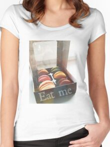 Eat me. Women's Fitted Scoop T-Shirt