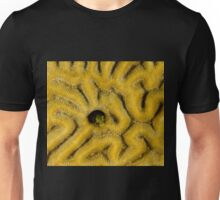 A Blenny Peeking Out of Brain Coral in Curacao Unisex T-Shirt