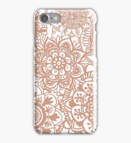 Rose Gold Mandala Pattern iPhone Case/Skin