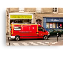 French Fire Truck Emergency Vehicle Canvas Print