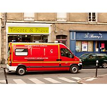 French Fire Truck Emergency Vehicle Photographic Print