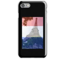 French flag Eiffel tower iPhone Case/Skin