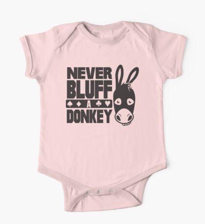 Poker: Never bluff a donkey One Piece - Short Sleeve