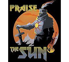 Praise The Sun Black Photographic Print