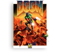 Doom Poster Art 1993 PC Canvas Print