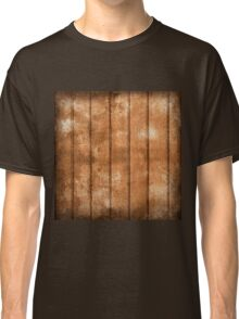 Wood wall,rustic,brown,grunge,worn,wall,wood,vintage,antiqued Classic T-Shirt