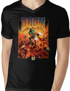 Doom Poster Art 1993 PC Mens V-Neck T-Shirt