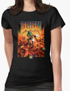 Doom Poster Art 1993 PC Womens Fitted T-Shirt