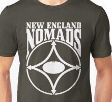 Nomads shield, full chest, white, borderless variation Unisex T-Shirt