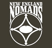 Nomads shield, full chest, white, borderless variation Unisex T-Shirt