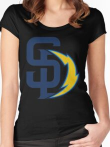 san diego chargers Women's Fitted Scoop T-Shirt