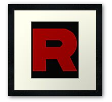 Team Rocket R Framed Print