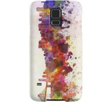 San Francisco skyline in watercolor background Samsung Galaxy Case/Skin