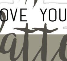 I love you a latte Sticker