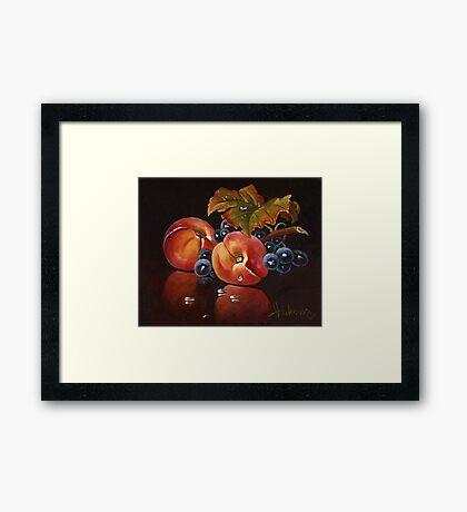 two peach Framed Print