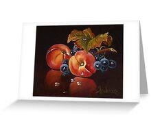 two peach Greeting Card