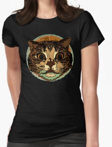 Cute Cat Face Womens Fitted T-Shirt