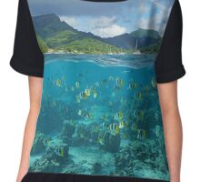 Above and below sea surface French Polynesia Chiffon Top