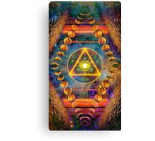 Ring round Triangle Egg of Life & Lunar Phases of the Moon Canvas Print