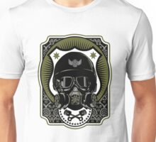 Drag Racing Helmet in Army Green  Unisex T-Shirt