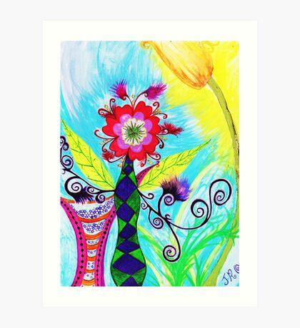 """""""Chex Floral"""" by Jessie R Ojeda Art Print"""