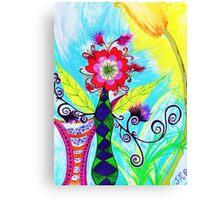 """""""Chex Floral"""" by Jessie R Ojeda Canvas Print"""