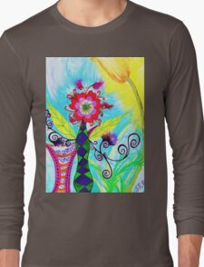 """""""Chex Floral"""" by Jessie R Ojeda Long Sleeve T-Shirt"""