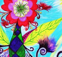 """Chex Floral"" by Jessie R Ojeda Sticker"