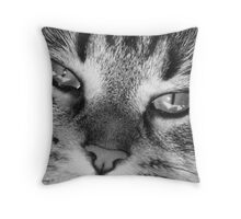 Look into my eyes.... you cannot resist me!! Throw Pillow